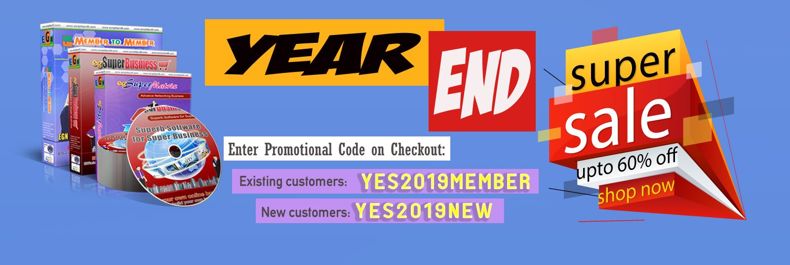 Year end sale! 60% OFF